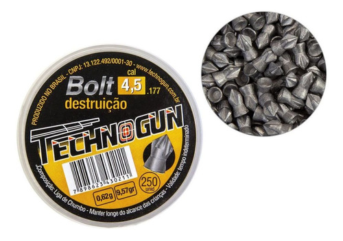 Postón Technogun  BOLT 4.5 mm 250 un