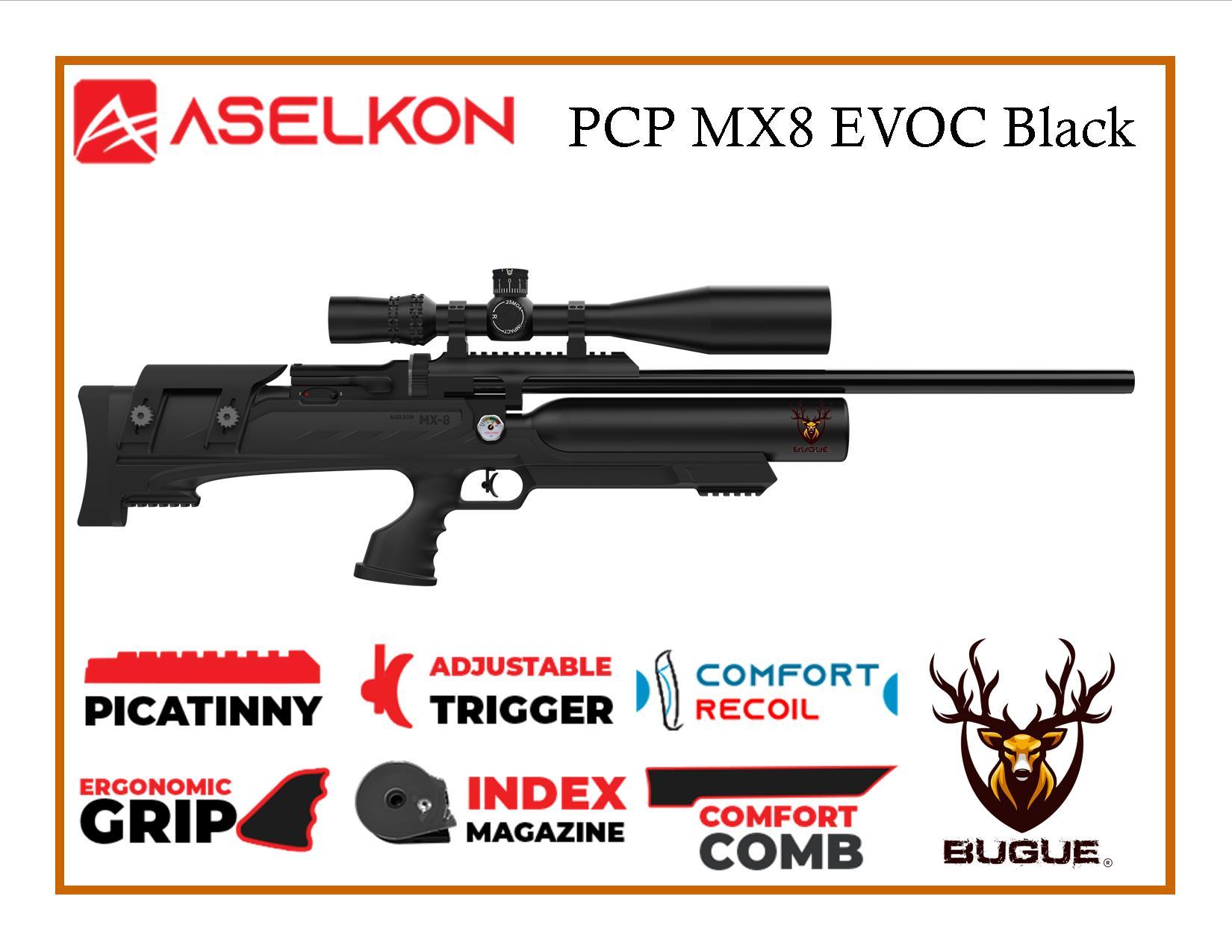 RIFLE PCP ASELKON MX8 EVOC BLACK 5.5 MM