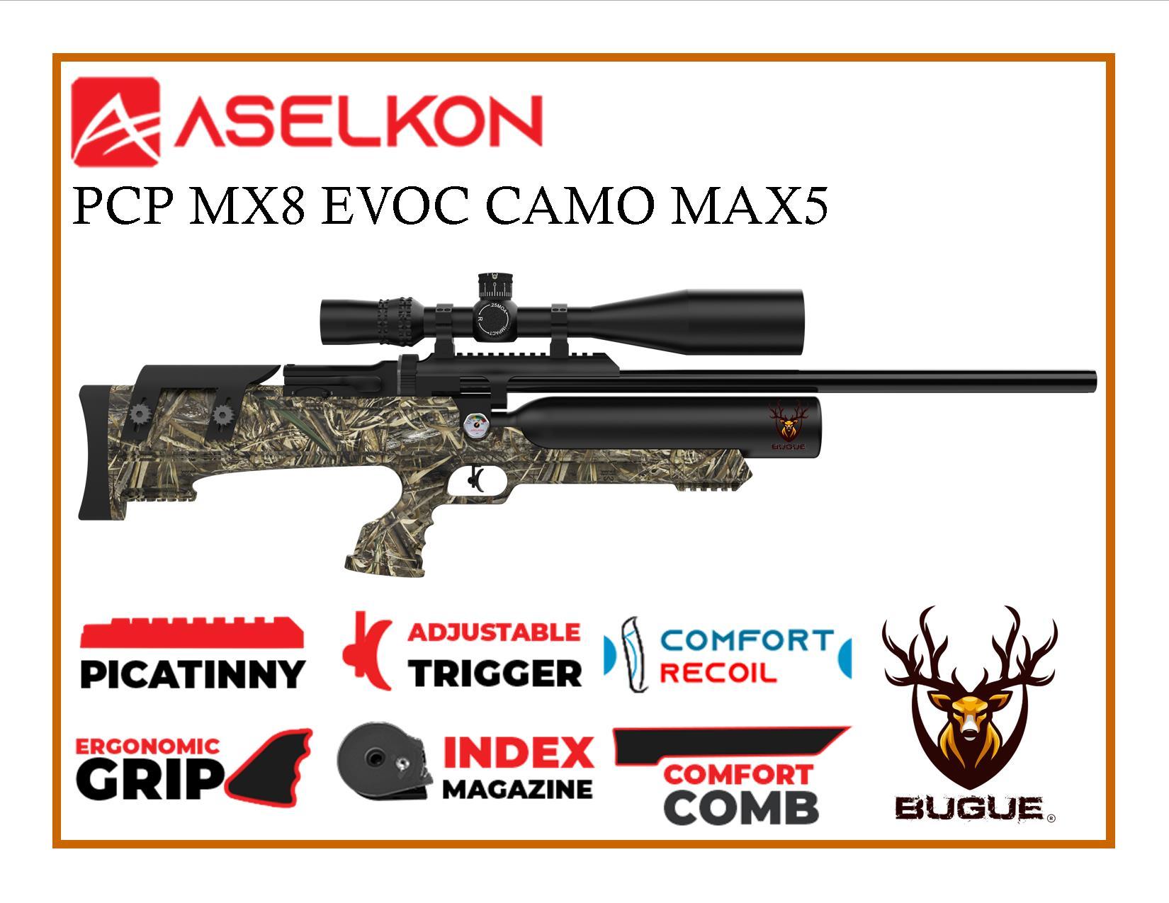 RIFLE PCP ASELKON MX8 EVOC CAMO MAX 5.5 MM