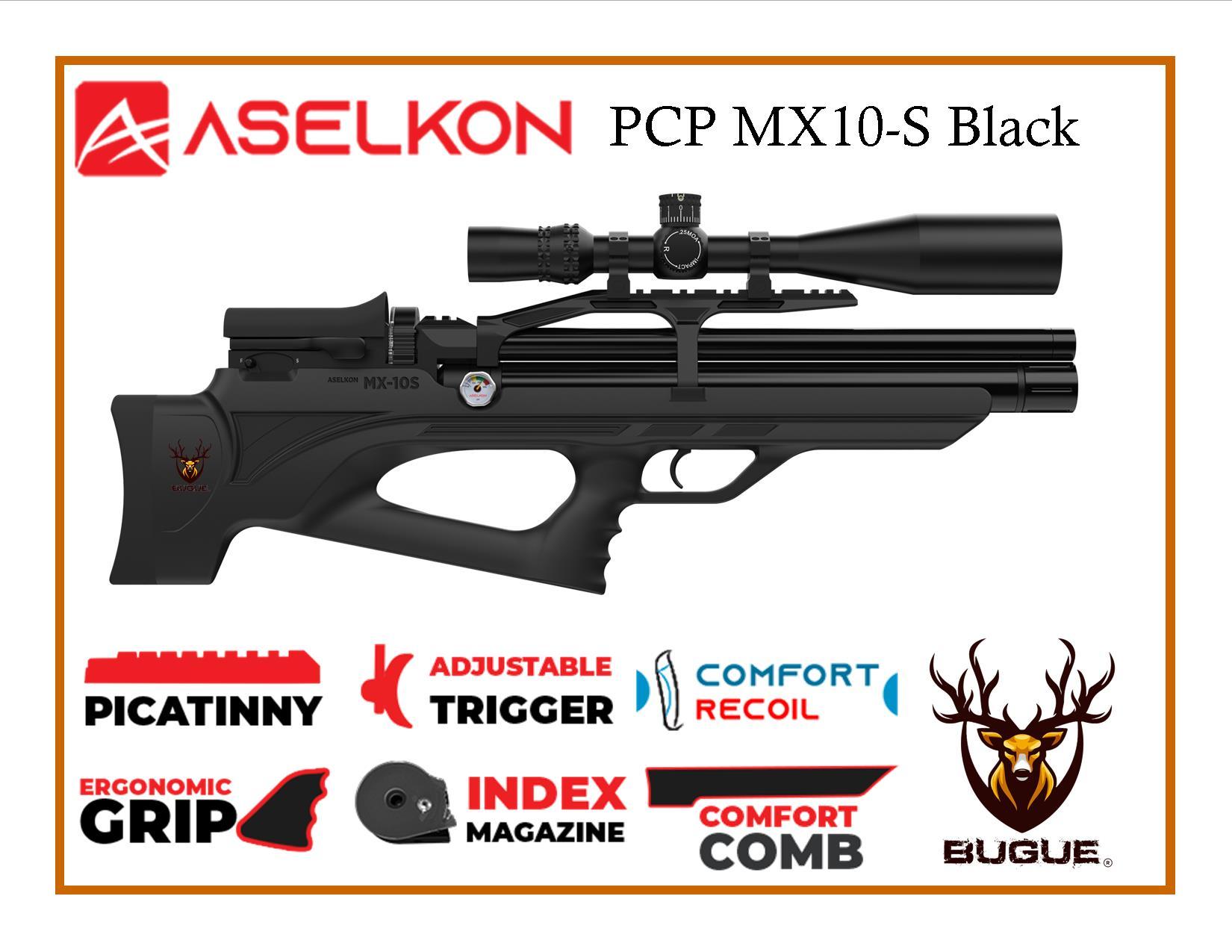 RIFLE PCP ASELKON MX10-S BLACK CALIBRE 5.5 MM