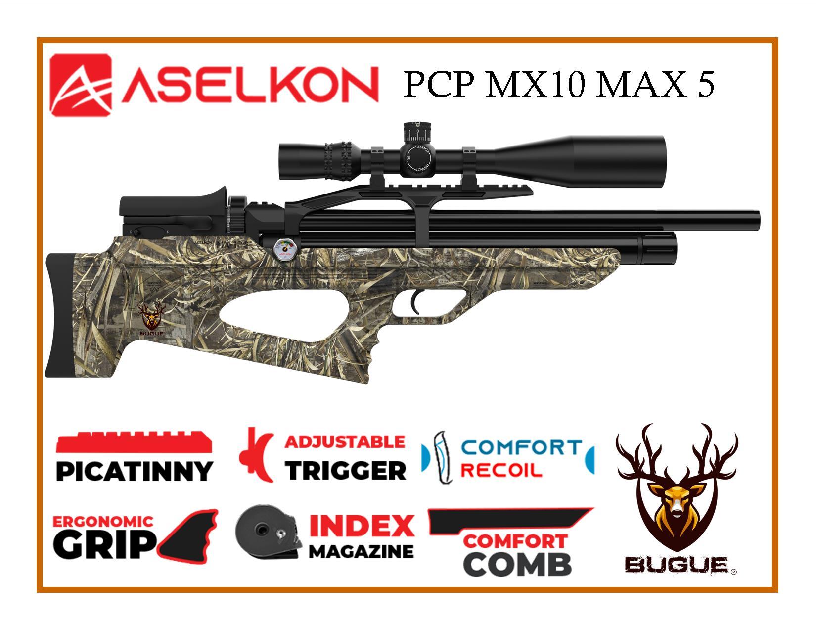 RIFLE PCP ASELKON MX10 MAX 5 CALIBRE 5.5 MM