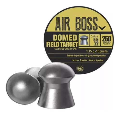 Postones apolo Domed field target Airboss 5.5 mm 18gr 250 unidades