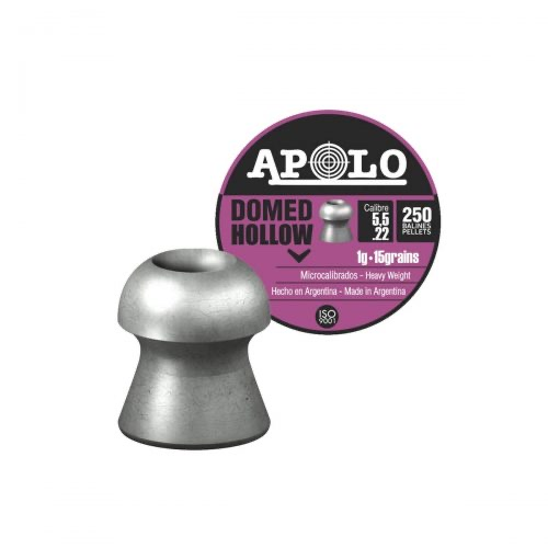 Postones apolo Domed HOLLOW 5.5 mm 14.3gr 250 unidades
