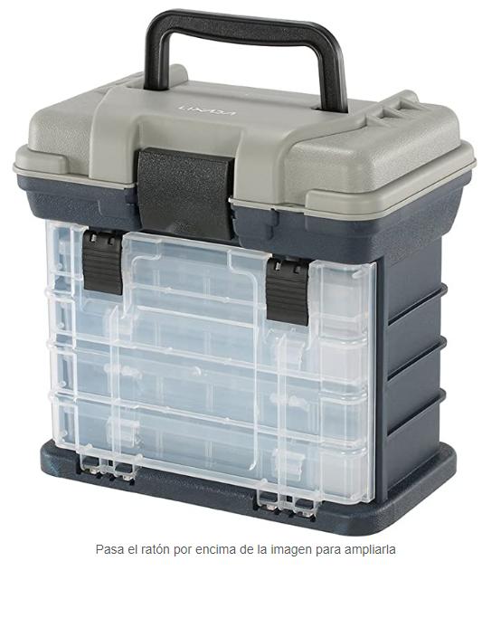 Maleta de pesca + 4 cajas de accesorios