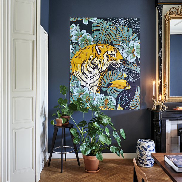Mural Tiger Jungle & Toucan Family