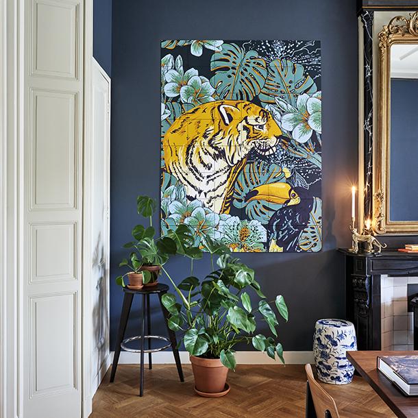 Mural Tiger Jungle & Toucan Family