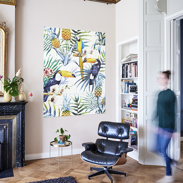 Mural Tiger Jungle & Toucan Family  - image hover