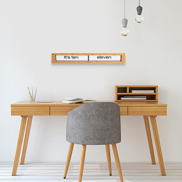 Reloj Texttime Bamboo Blanco - image hover
