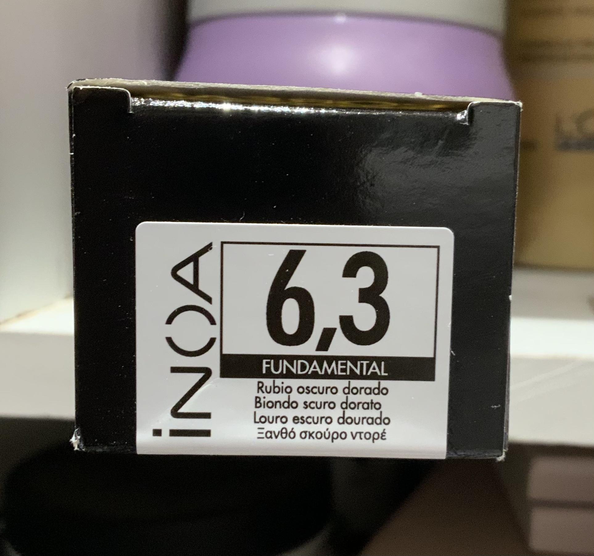 Tintura INOA 60g Rubio Oscuro Dorado Funtamental 6.3