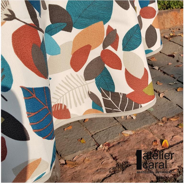 Mantel ⚫ HOJASdeOTOÑO diámetro180cm [enstockpara envíooretiro]