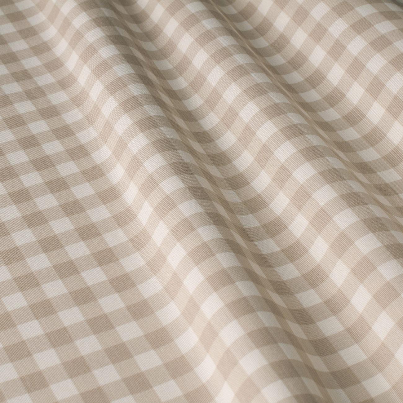 Mantel ⚫ BISTROTBEIGE diámetro180cm ·cuadrícula1,3cm· [enstockpara envíooretiro]