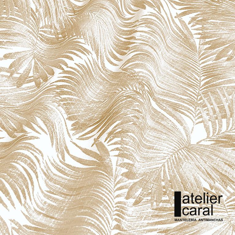 Mantel PALMERASBEIGE Rectangular 1,8x2,7m [enstockpara envíooretiro]
