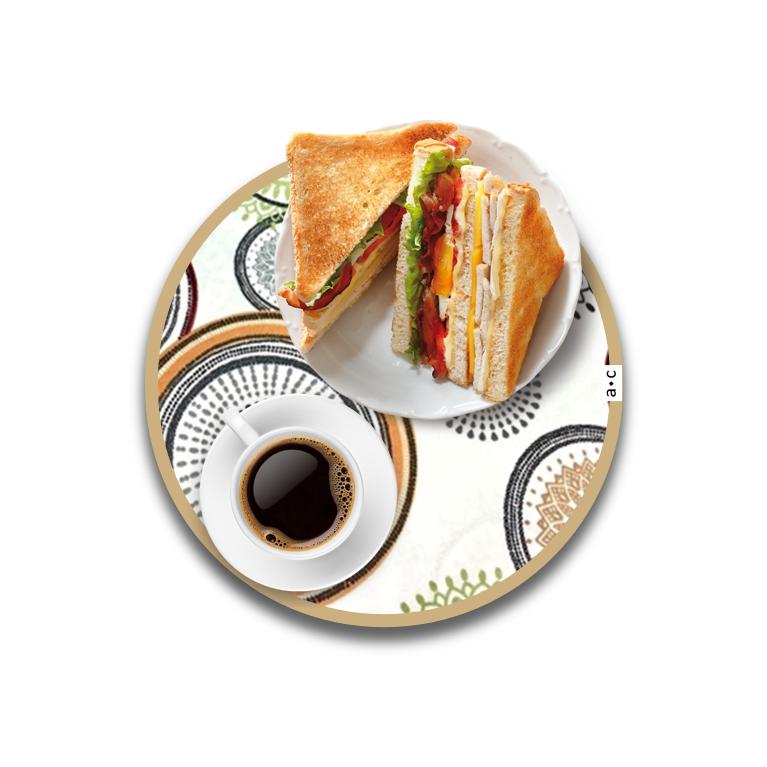 Individual Auxiliar 30 cm · MANDALAS Cafés