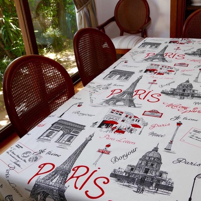 Mantel PARÍS · Rectangular 12 Sillas