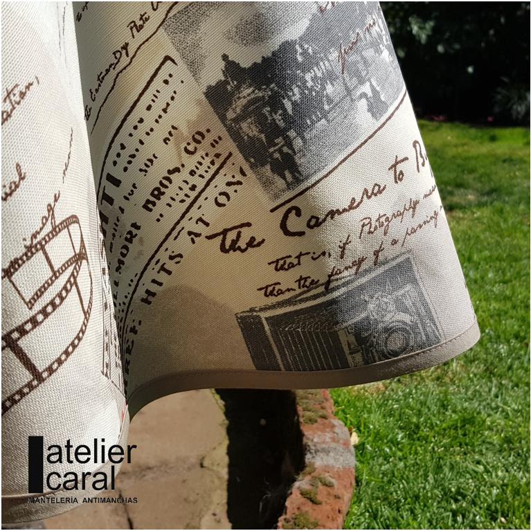 Mantel ⚫ FOTOGRAFÍA diámetro150cm [enstockpara envíooretiro]