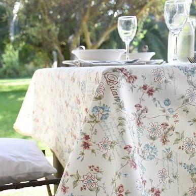 Mantel ROSES for BRIAN TURQUESA ⬛ Cuadrado 4 Sillas