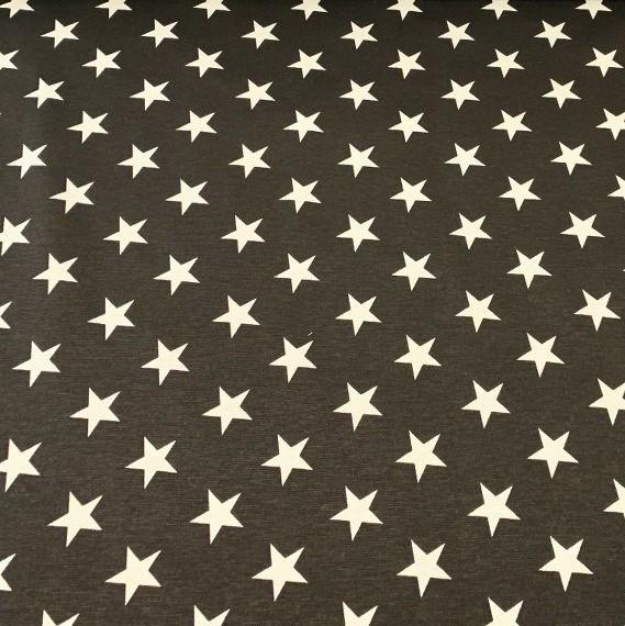 Estrellas en Gris Oscuro
