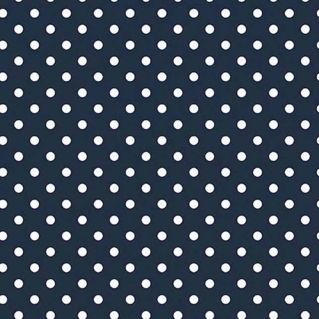 Lunares en Azul Marino