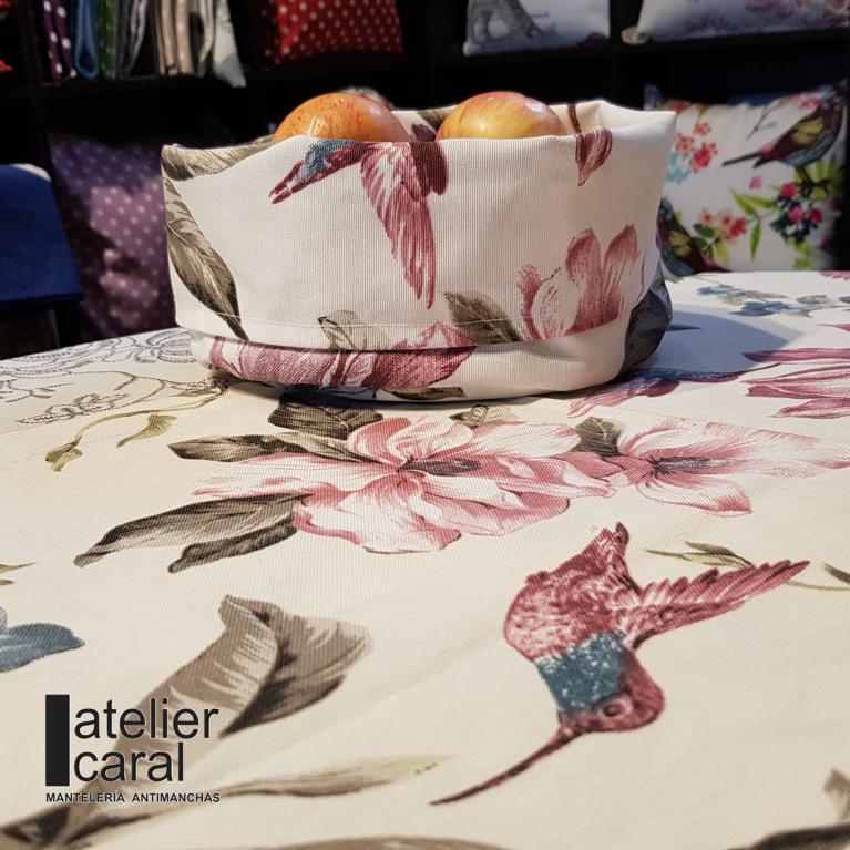 Mantel LIRIOS ⬛ Cuadrado 4 Sillas