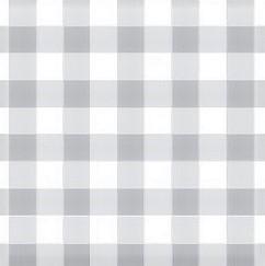 Mantel BISTROT GRIS - Cuadros Grandes (4 cm) · Rect 6-8 Sillas