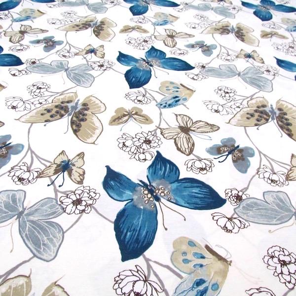 Mantel MARIPOSAS ACUARELA Azul · Rectangular 10 Sillas