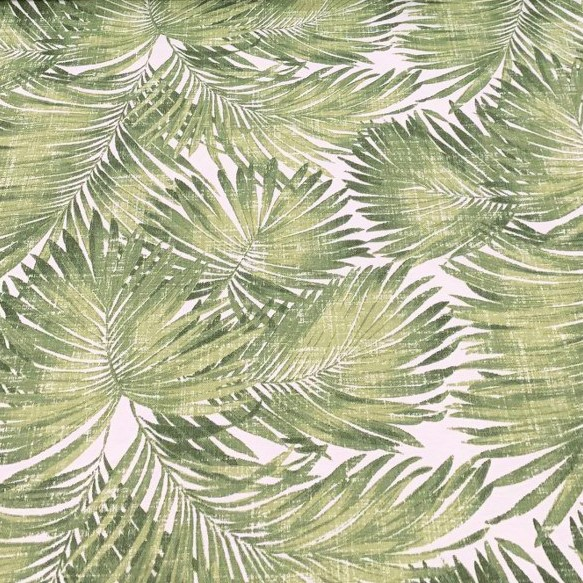 Mantel PALMERAS VERDE · Rectangular 12 Sillas