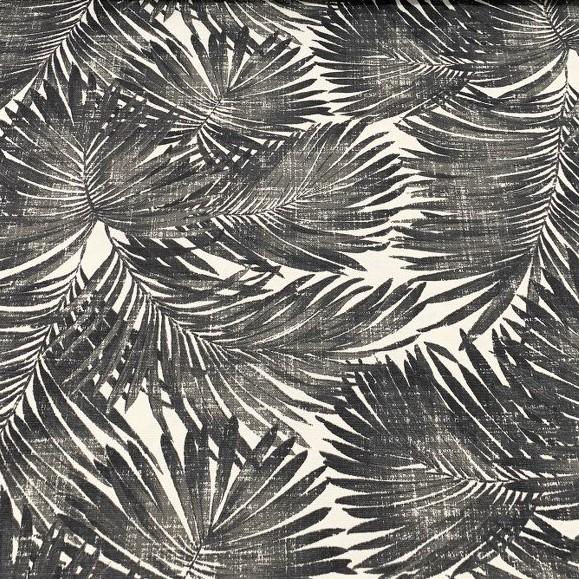Mantel PALMERAS Negro · Rectangular 10 Sillas