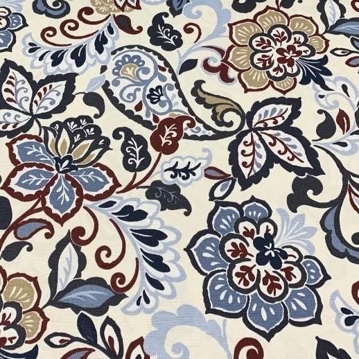 Mantel FLORAL PROVENZAL Azul ⬛ Cuadrado 8 Sillas