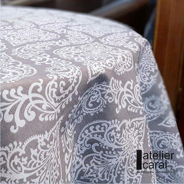 Mantel ⚫ VICTORIANGRIS diámetro 180cm [enstockpara envíooretiro]