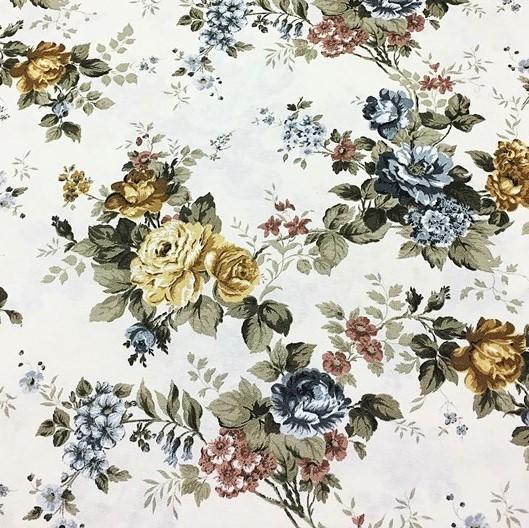 Mantel ROSAS de VERSALLES Azul ⚫ Redondo 6-8 Sillas