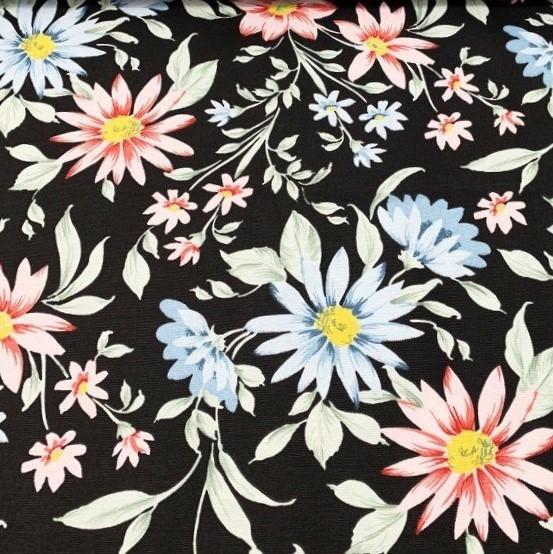 Mantel GAZANIAS CELESTES Rectangular 1,8x2,7m [porconfeccionar] [listoen5·7días]
