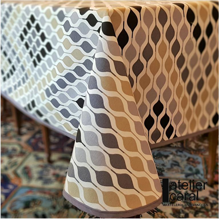 Mantel ONDASGRIS Rectangular 1,5x2,4m [enstockpara envíooretiro]