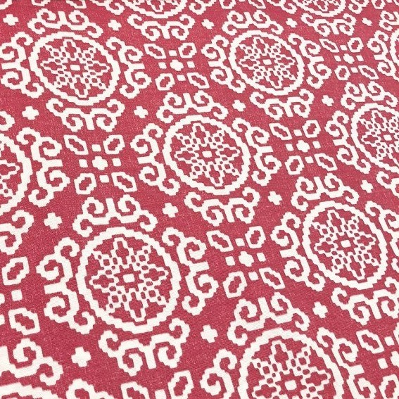 Mantel IKAT FRENCH ROSE ⬛ Cuadrado 8 Sillas