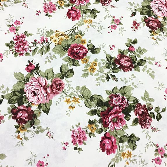 Mantel ROSAS de VERSALLES Rosa Nostalgia ⚫ Redondo 6-8 Sillas