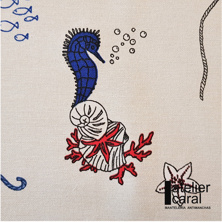 Mantel FARO · Rectangular 6 Sillas