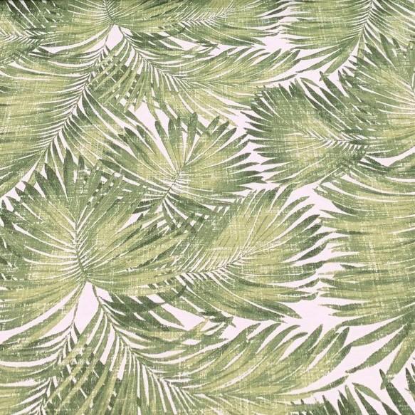 Mantel PALMERAS Verde ⬛ Cuadrado 4 Sillas