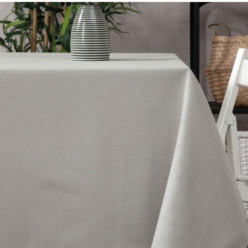 Mantel GRIS Claro Color Liso · Rectangular 6-8 Sillas