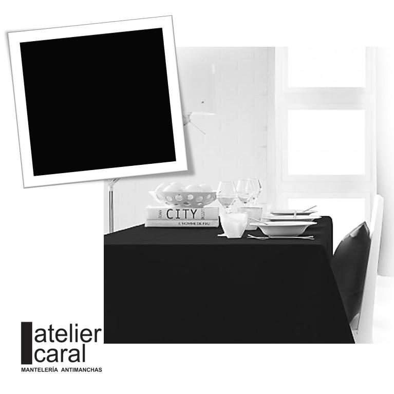 Mantel NEGRO Color Liso Rectangular 1,5x2,1 m [porconfeccionar] [listoen5·7días]