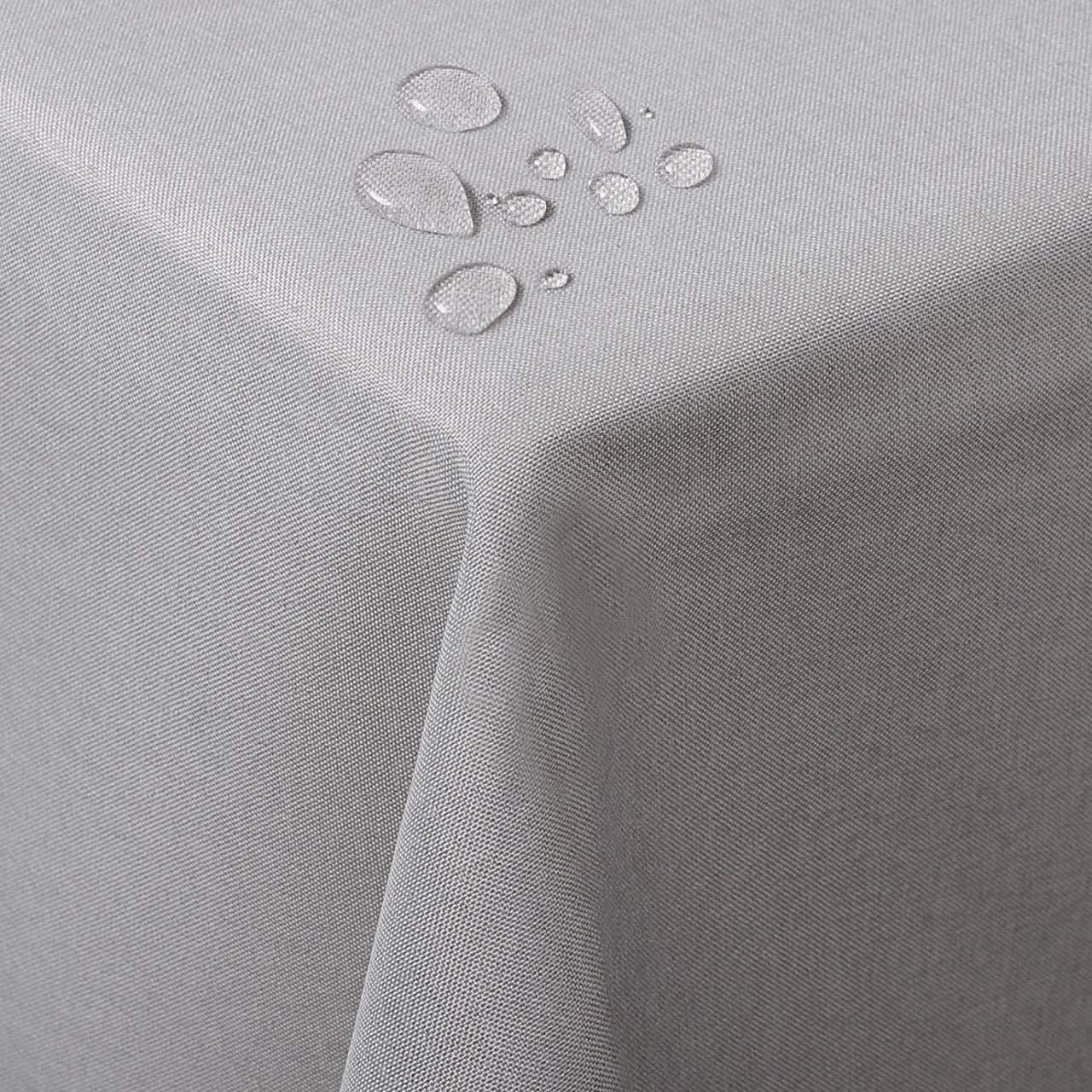 Mantel GRIS Claro Color Liso ⬛ Cuadrado 8 Sillas