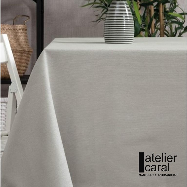 Mantel GRIS Claro Color Liso ⬛ Cuadrado 4 Sillas
