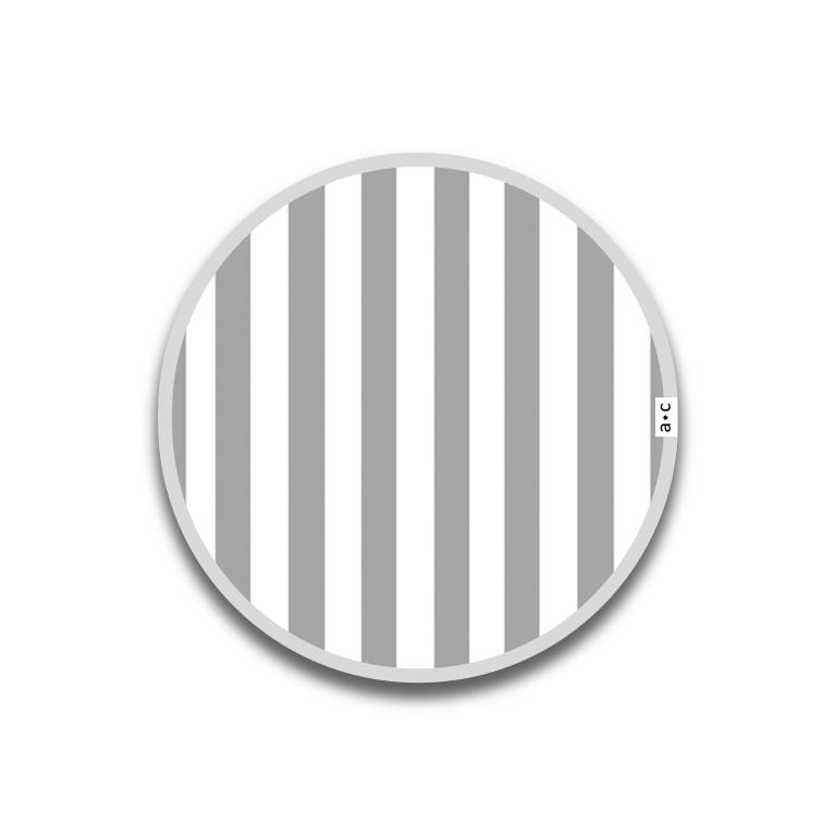 Individual Auxiliar Redondo ⚫ 30 cm · RAYAS en GRIS [enstock] [envíorápido]