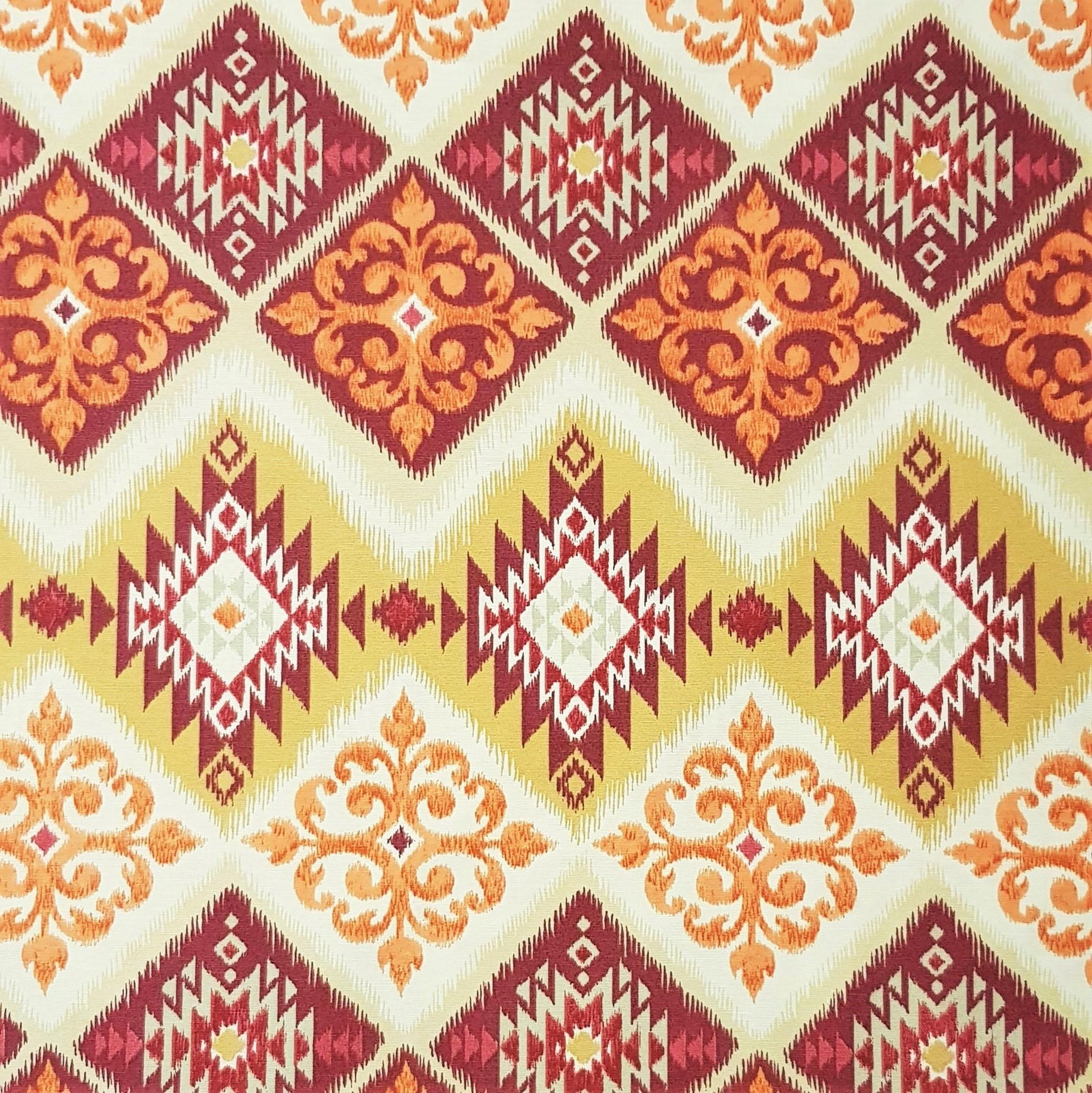 Mantel KILIM Rojo · Rectangular 4 Sillas