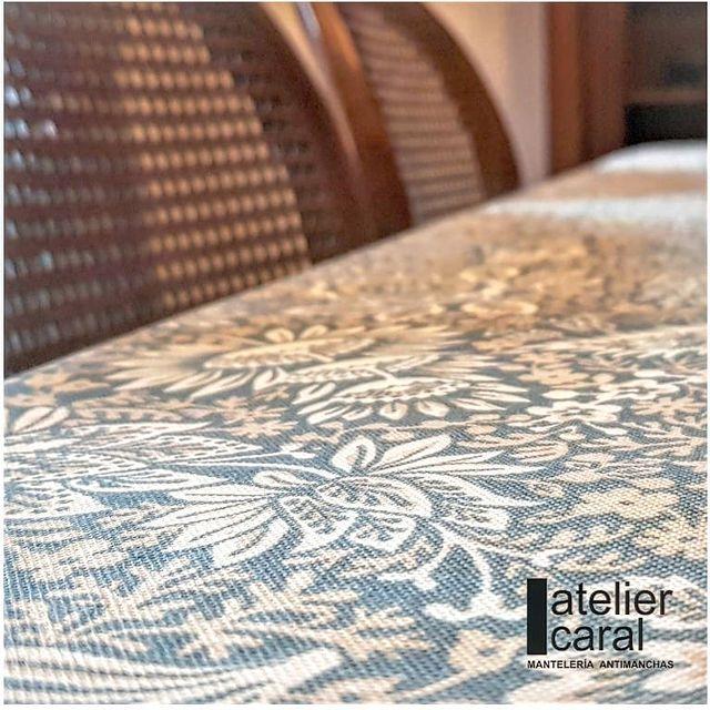 Mantel FLORAL AZUL PIEDRA Rectangular 1,8x2,7m [porconfeccionar] [listoen5·7días]