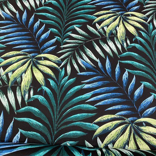 MantelPALMERAS VERDE-AZUL Rectangular 1,5x2,4m [porconfeccionar] [listoen5·7días]