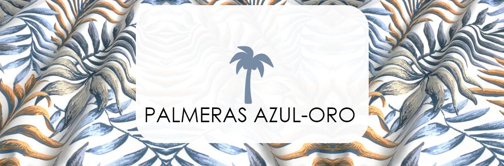 PALMERAS AZUL · ORO