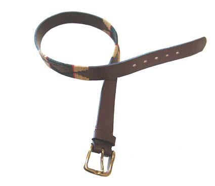 Cinturón De Suela Bordado.