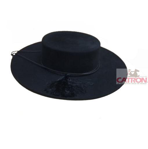 Sombrero Cordobés De Paño Para Dama Negro