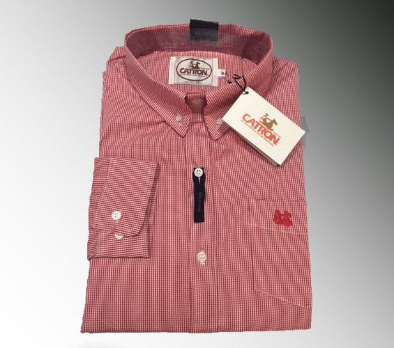 Camisa roja cuadro pequeño
