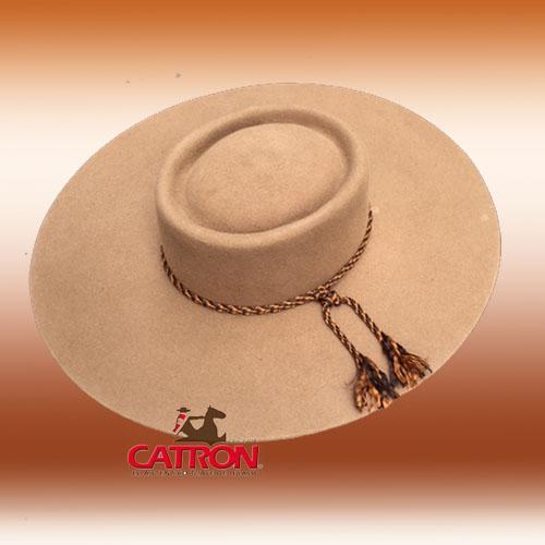 Sombrero de paño Camel