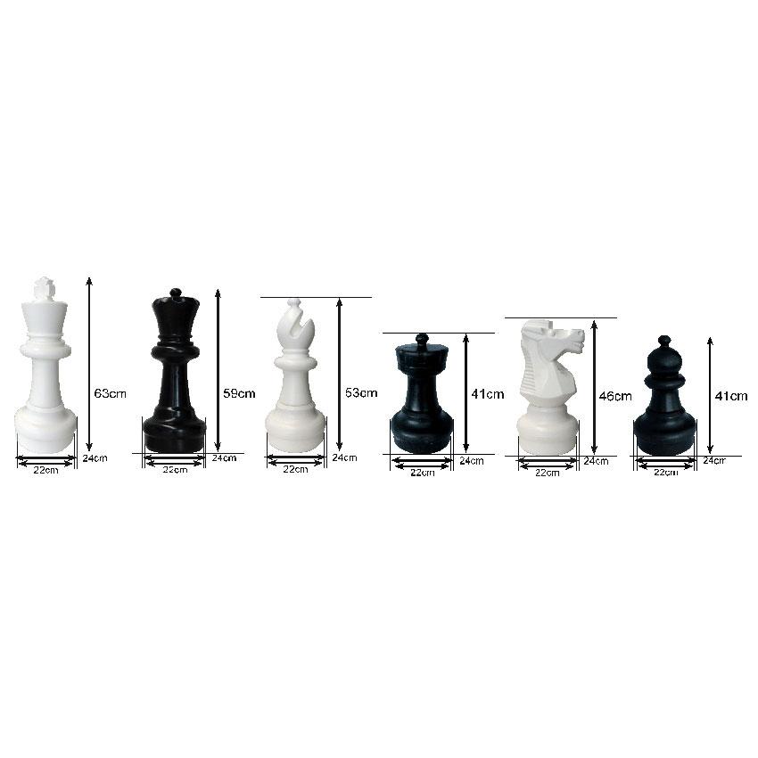 Set de piezas gigantes para ajedrez